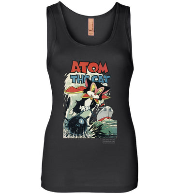 Atom The Cat No.10 Tank Top (Womens, Dark Colors)