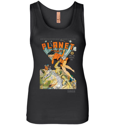 Planet Comics No.15 Tank Top (Womens, Dark Colors)