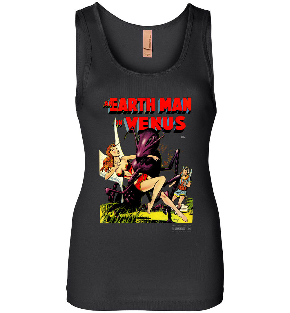 An Earth Man On Venus No.1 Tank Top (Womens, Dark Colors)