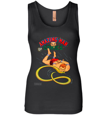 Amazing-Man Comics No.5 Tank Top (Womens, Dark Colors)