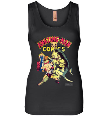Amazing-Man Comics No.14 Tank Top (Womens, Dark Colors)