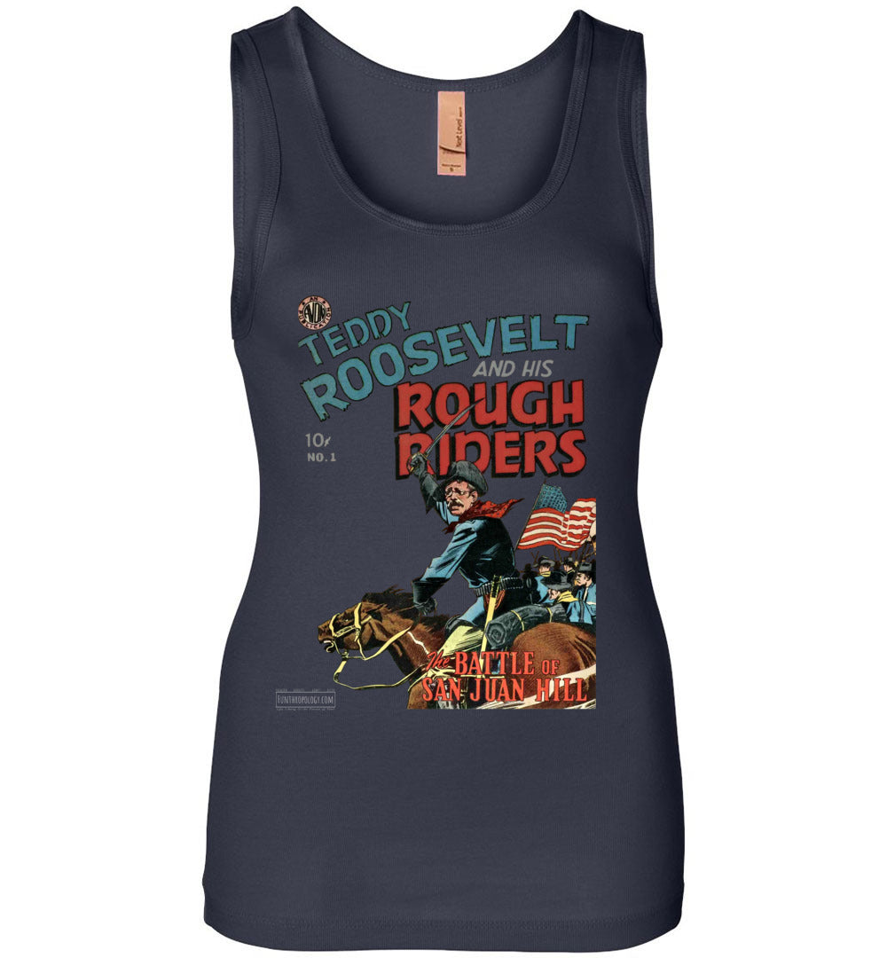 Teddy Roosevelt And His Rough Riders No.1 Tank Top (Womens, Dark Colors)