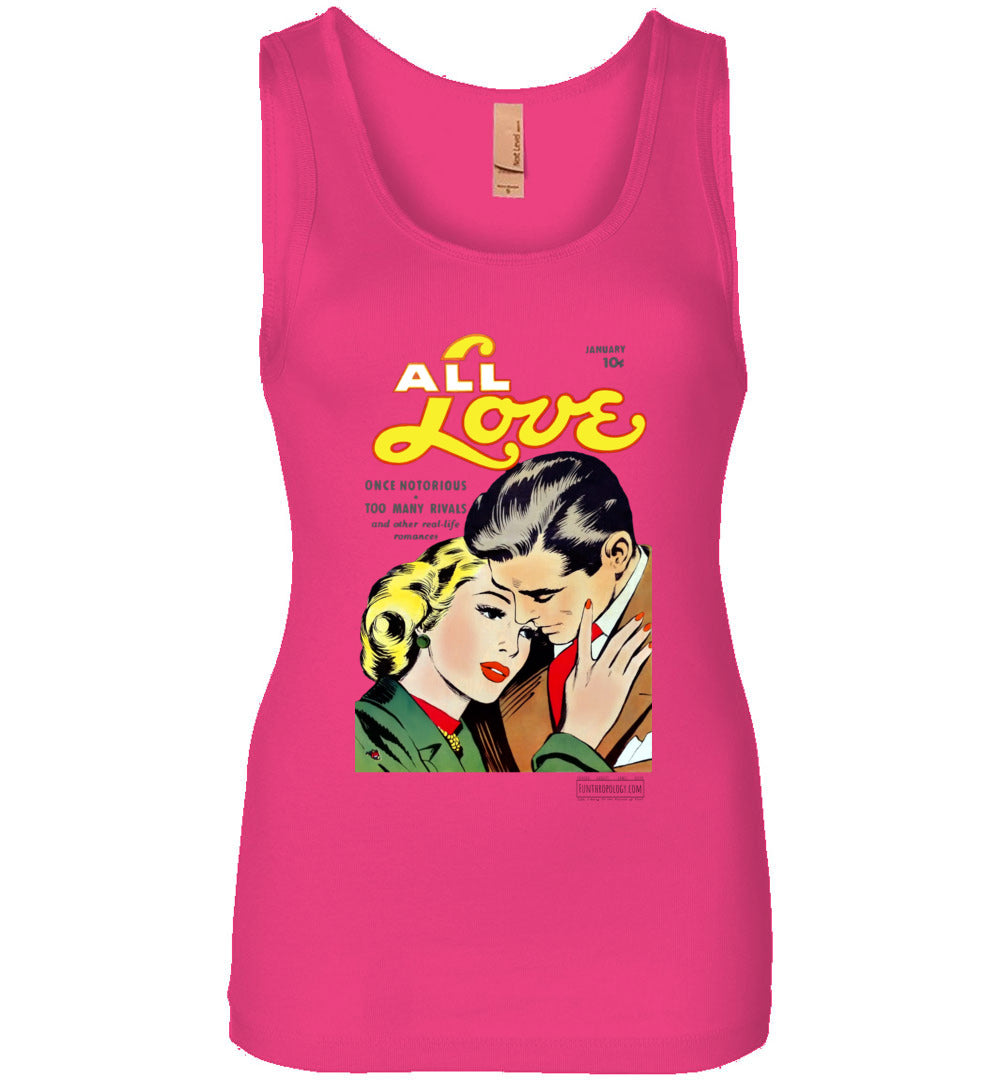 All Love No.30 Tank Top (Womens, Light Colors)
