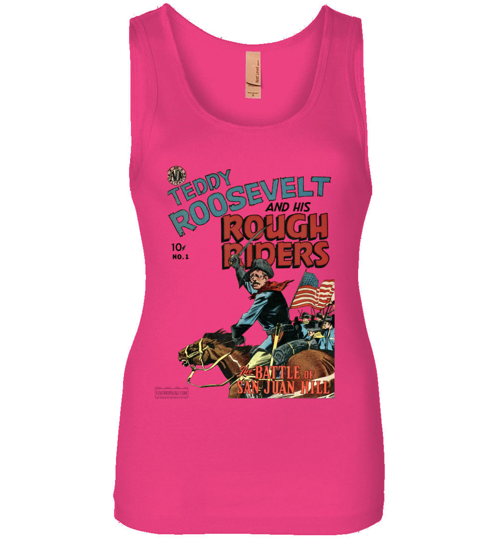 Teddy Roosevelt And His Rough Riders No.1 Tank Top (Womens, Light Colors)