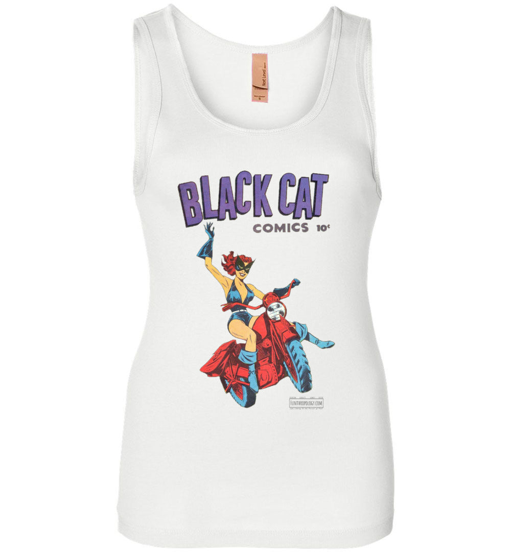 Black Cat No.1 Tank Top (Womens, Light Colors)