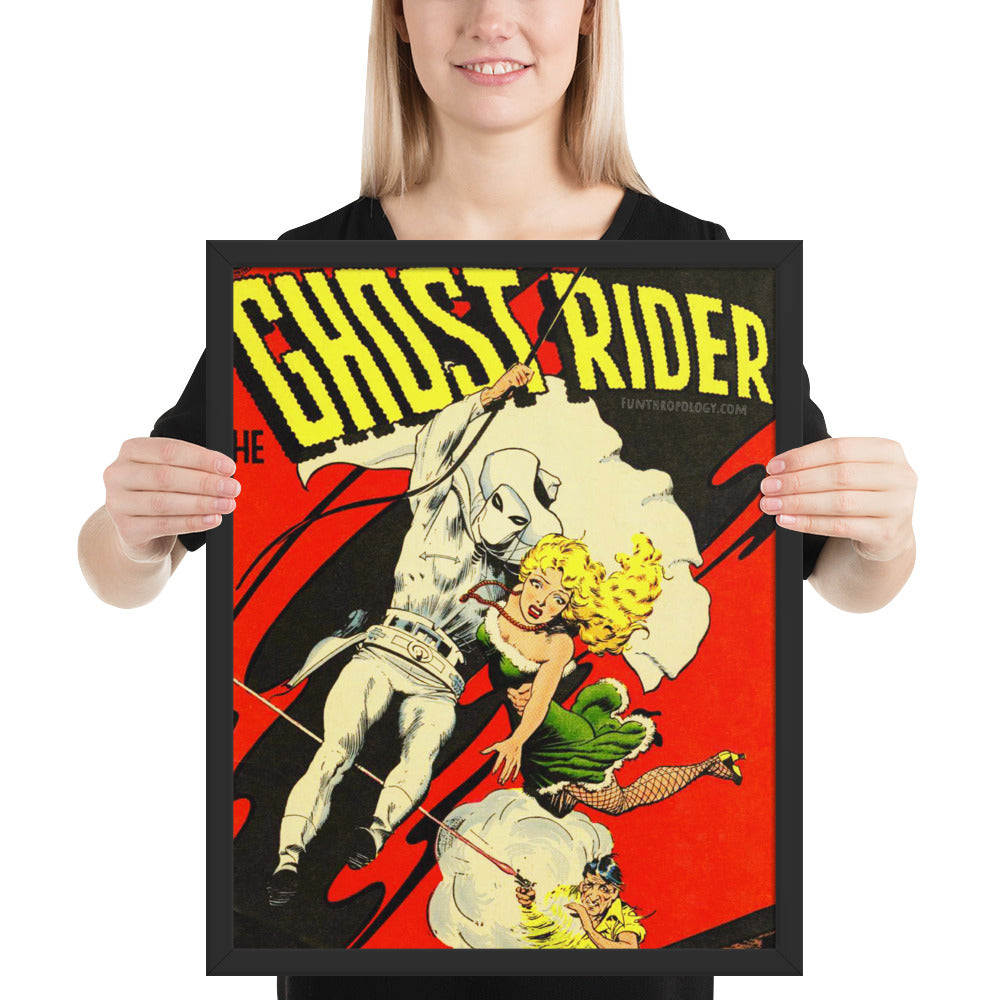 The Ghost Rider - No.5 Framed Poster