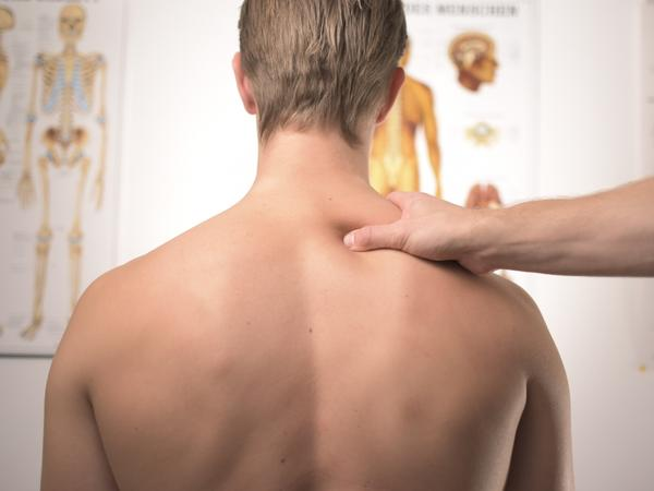 man for a back checkup