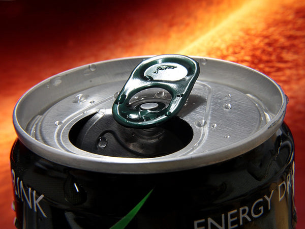 an opened energy drink