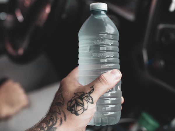 water bottle while driving long drive