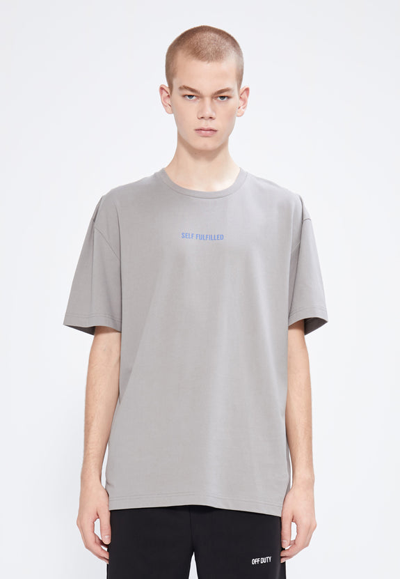 SELF FULFILLED TEE GREY