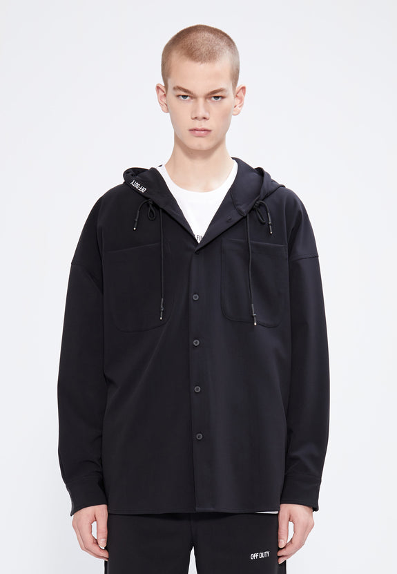 FRAG HOODED SHIRT BLACK