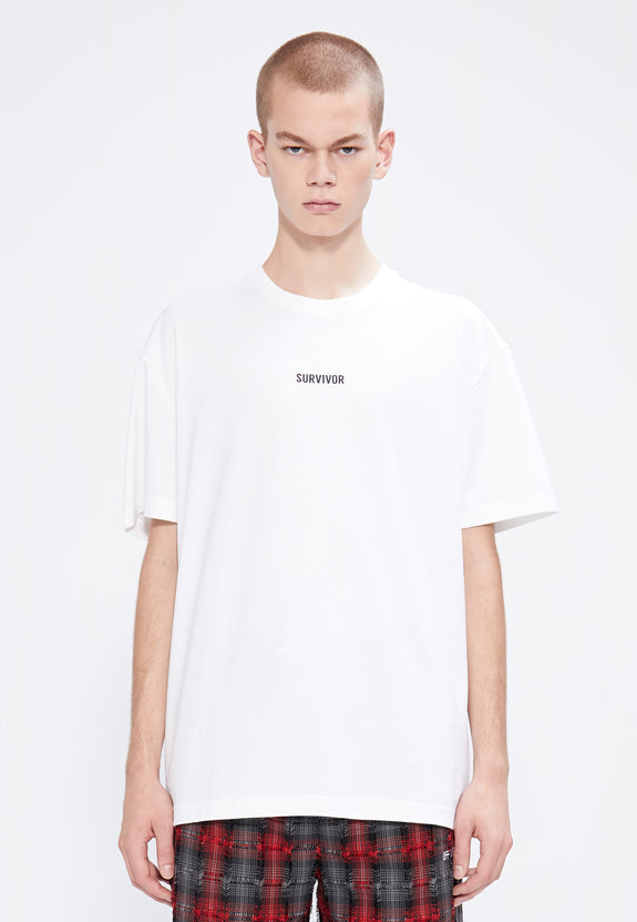 SURVIVOR TEE WHITE