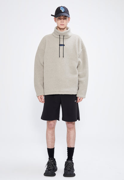 HAMM MOCK NECK SWEATSHIRT OATMEAL