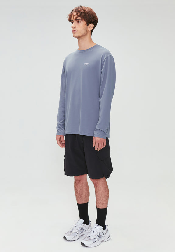 RIGG ACTIVE LS TEE BLUE GREY