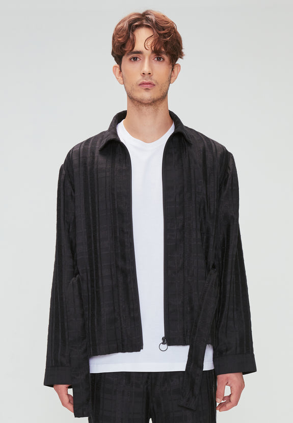 KINNO PLAID JACKET BLACK
