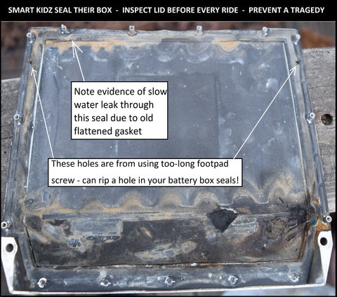 Water Damaged Battery Box Lid