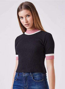 ANIMALE | Blusa Tr Tricolor Cropped