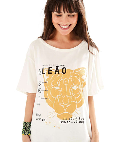 FARM | T-shirt Silk Leão
