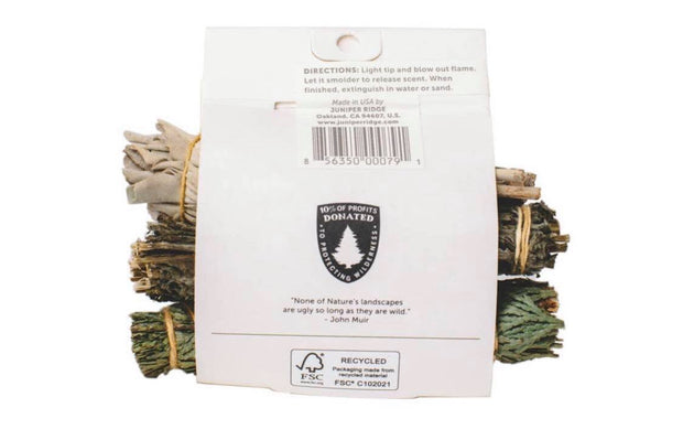 Natural Smoke Clearing Bundle - Cedar | Mugwort | Sage
