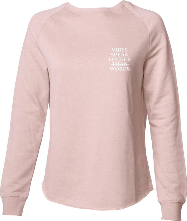 """Vibes Speak"" Light & Casual Fit Wide Crew Neck"