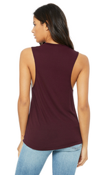Unfortunately Unmeditated Scoop Muscle Tank | Maroon