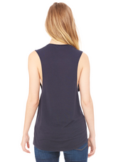 Unfortunately Unmeditated Scoop Muscle Tank | Midnight Blue