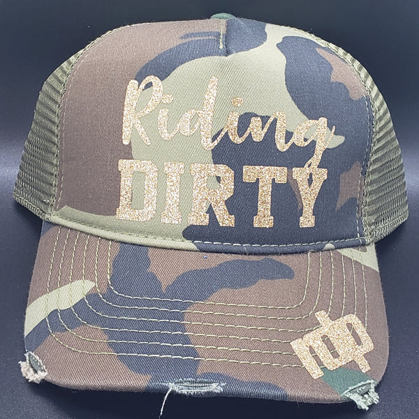 Women's 'Riding Dirty' Snapback Non-Bling Hats