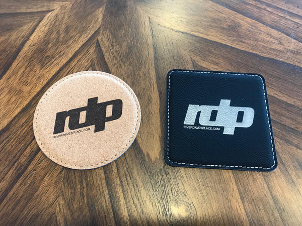 RDP Leatherette Drink Coasters