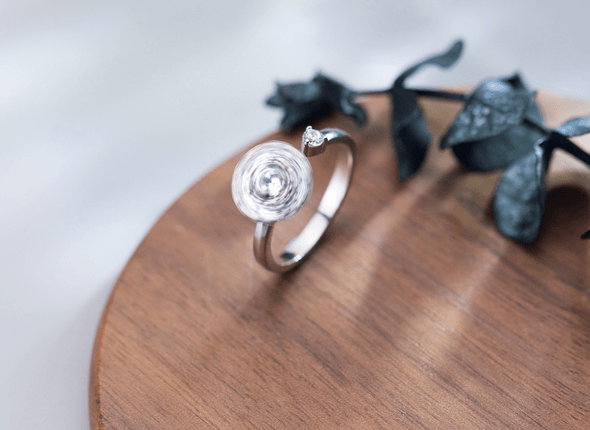 SpinningGEM Silver Ring
