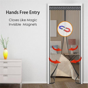 Magic Magnetic Mosquito Screen Door