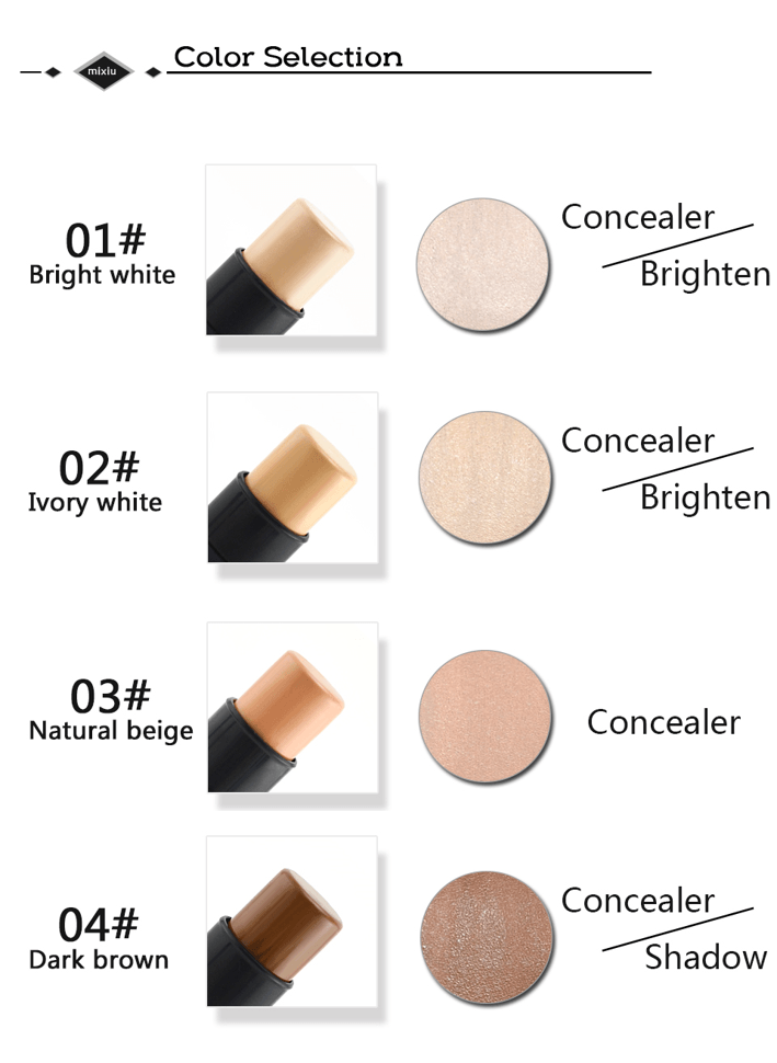 3-in-1 Foundation & Concealer Stick with Brush