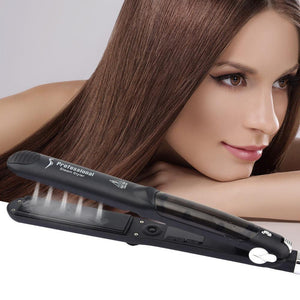 Damage-free Ceramic Steam Hair Straightener