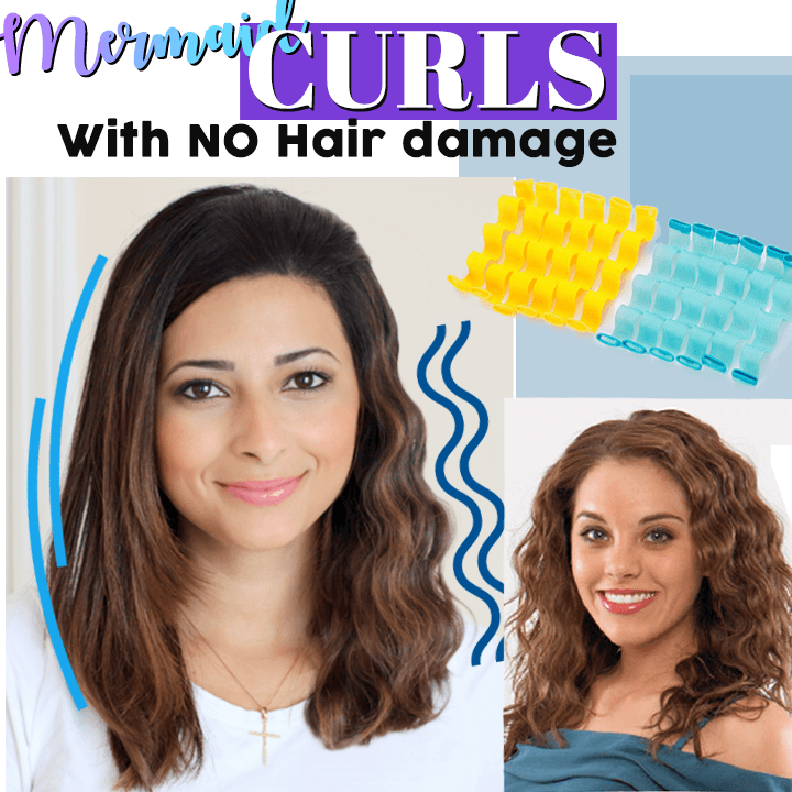 No Heat Mermaid Hair Curlers