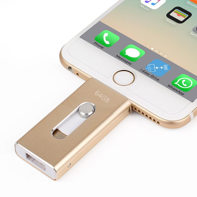Premium Flash Drive 16/32/64/128GB For iPhone/iPad