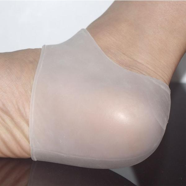 Silicone Gel Heel and Ankle Sleeve for Plantar Fasciitis and other Foot Conditions