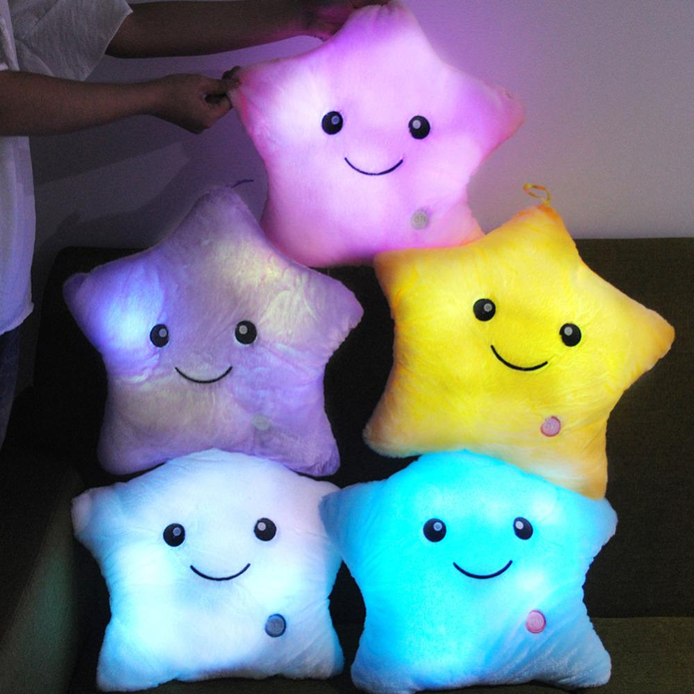 Luminous Glowing LED Star shaped Pillow