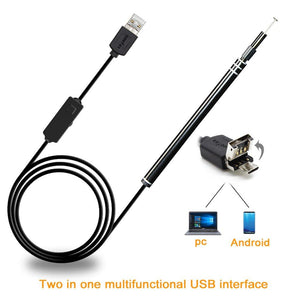 2-in-1 USB HD Endoscope HD for Ear Cleaning and Health Monitoring