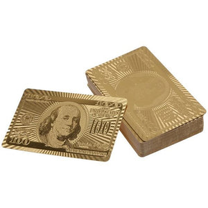 24K Gold Plated Playing Cards Platinum Limited Collection