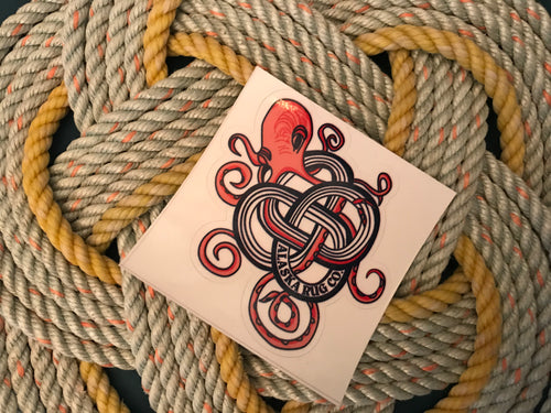 Octopus knot sticker