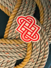 Intertwined Hearts Knot Sticker