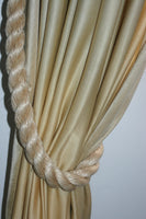 Thick Rope Curtain Tie Backs-Beige