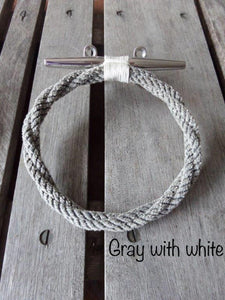 Gray Rope Towel Ring Holder Rack