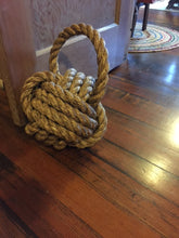 "Large 10"" Monkey Fist Knotted Bookend or Doorstop Manila Rope - Alaska Rug Company"