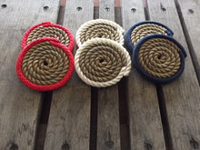 Set of 6 Coasters Red White Blue - Alaska Rug Company