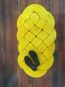 "Yellow Door Mat 47"" x 22"" - Alaska Rug Company"