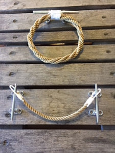 nautical bathroom towel ring and toilet paper holder matching set