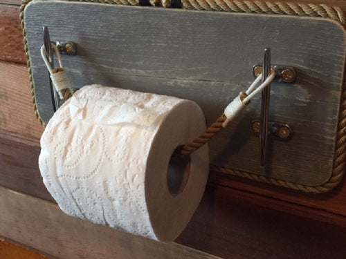 Cleat Toilet Paper Holder Nautical Bathroom Fixture - Alaska Rug Company