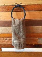 Navy Rope Towel Ring Holder Rack