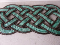 "Rope Rug Green with Double Brown Accent 36"" x 12"""