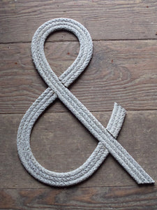 12 Inch Rope Letters and Numbers  Wall Hanging Words Nursery Art